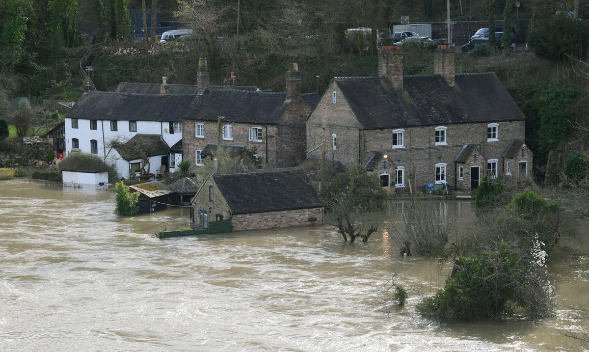 Flooding in Ironbridge. Photo: John Sambrooks,