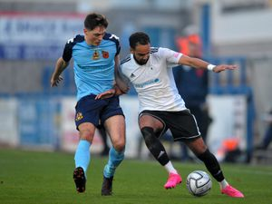 Brendon Daniels is yet to start any of AFC Telford's opening three games due to a muscle injury. Pic: Mike Sheridan/Ultrapress.
