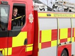 Man injured in fire at Moray farm