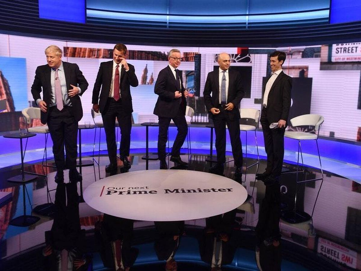 The candidates in the hustings shown on the BBC