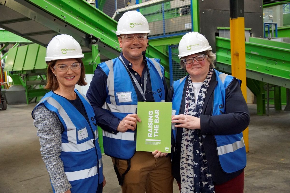 Telford MP Lucy Allan, AO marketing director Anthony Sant, and environment minister Therese Coffey