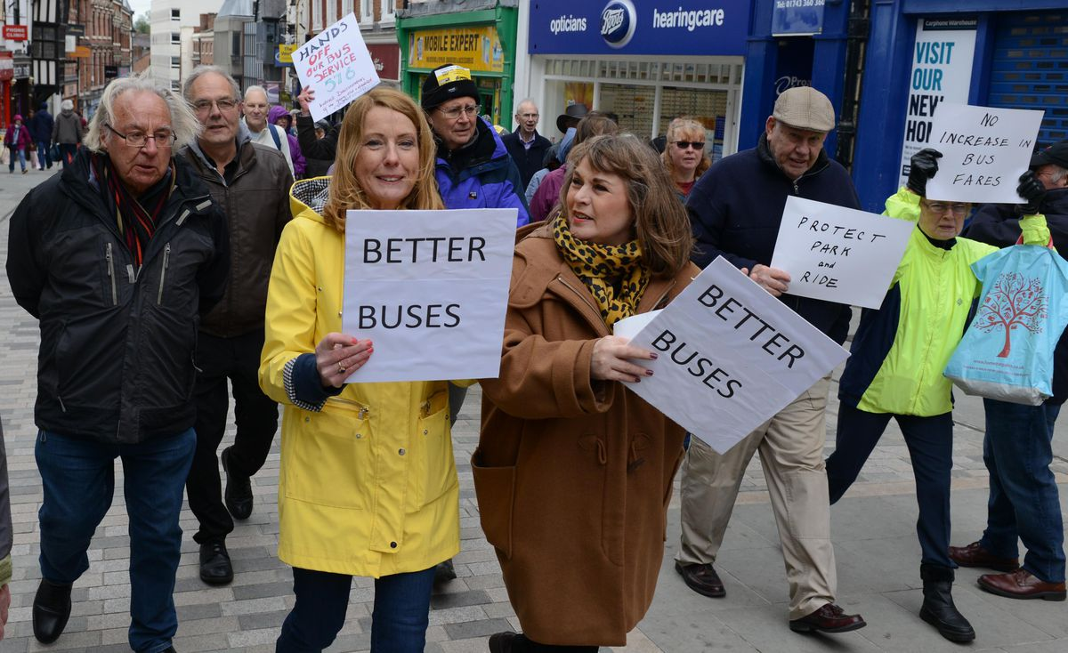 Campaigner brought placards and posters to get their message across