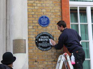 Errol Brown's black plaque outside the RAK Studios in St John's Wood