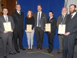 Awards handed out by West Mercia Police and Crime Commissioner