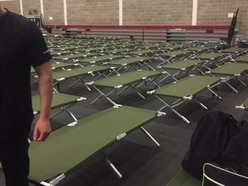 Camp beds for our police officers as Donald Trump embarks on visit