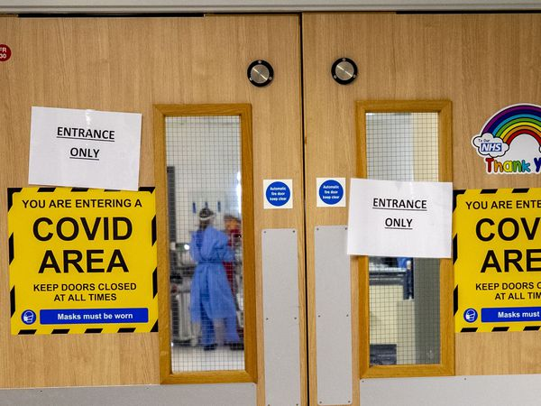 The entrance to a Covid-19 ward