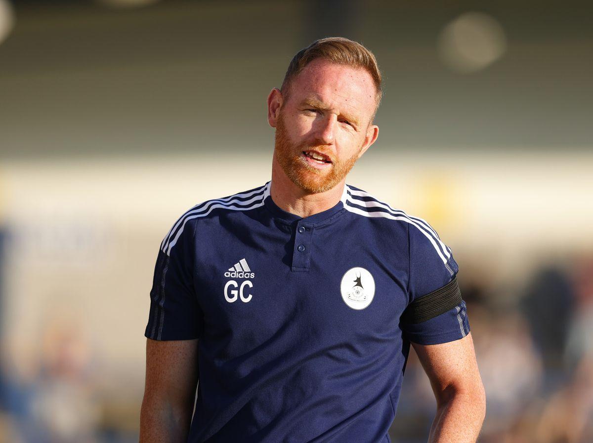 Gavin Cowan the head coach / manager of AFC Telford United. (AMA)