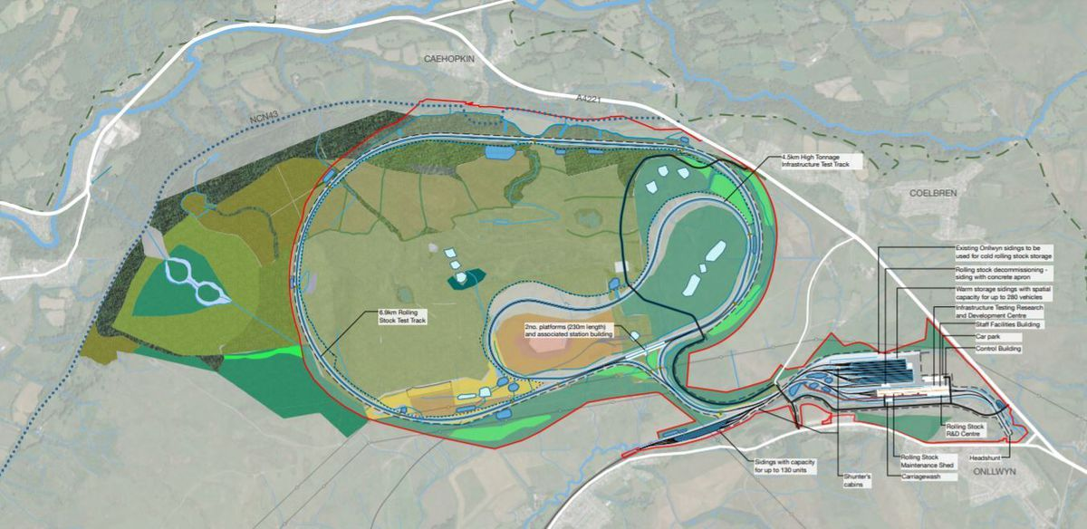 A site masterplan shows how the GCRE will take shape.