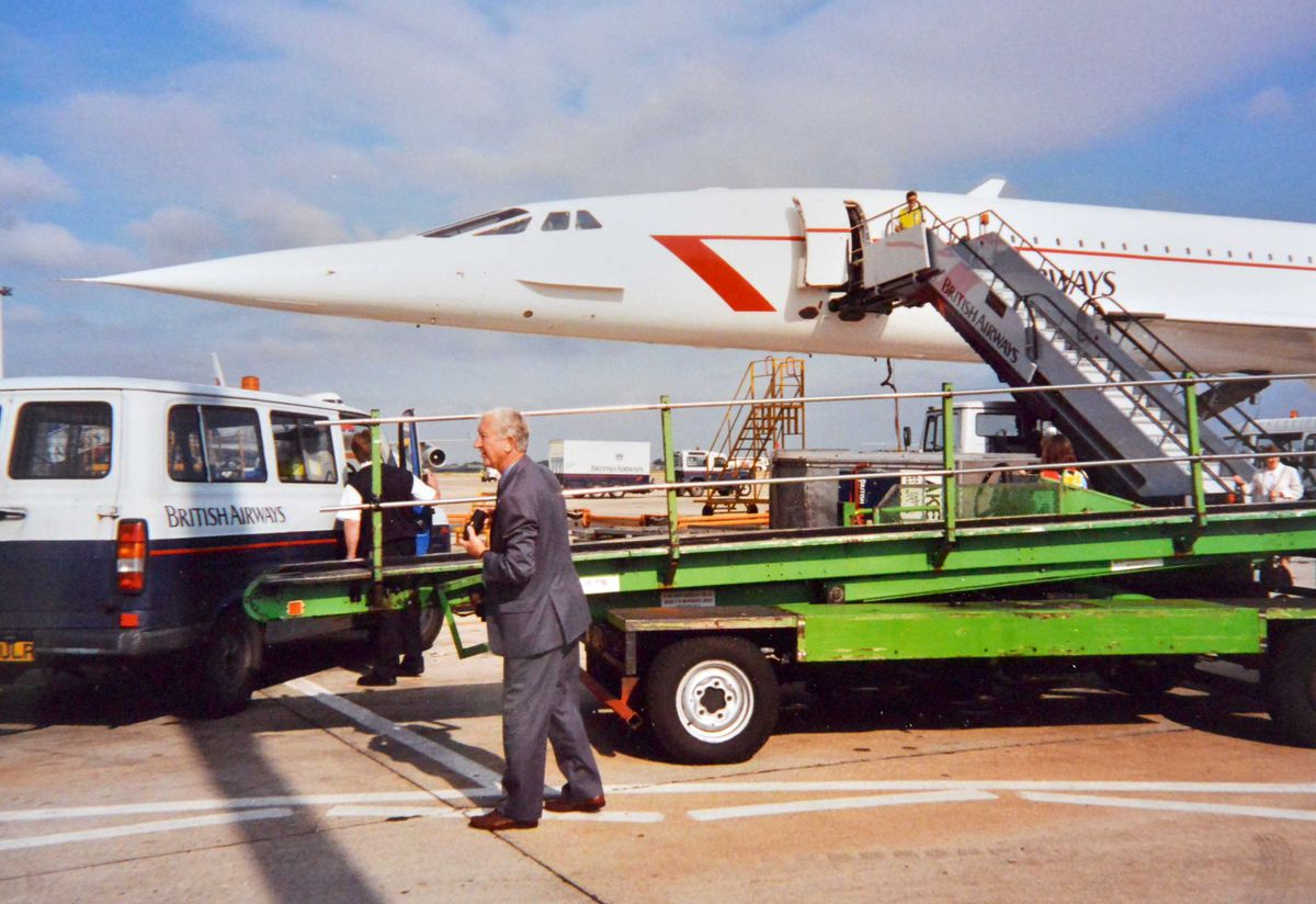 Alan's picture of Concorde shortly before take-off