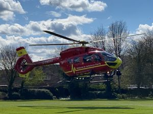 A witness reported seeing the air ambulance leave