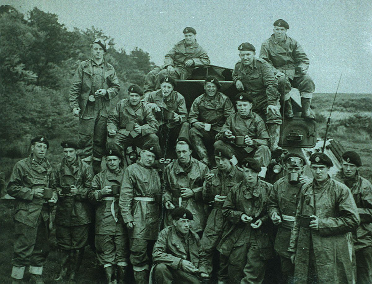 Shropshire Yeomanry soldiers on exercise in Scotland in the early 1950s.