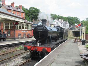 The engine at Llangollen Railway Station