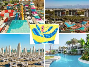 Edward and his family stayed at the stunning Thomas Cook, five-star, all-inclusive Trendy Lara hotel in Antalya