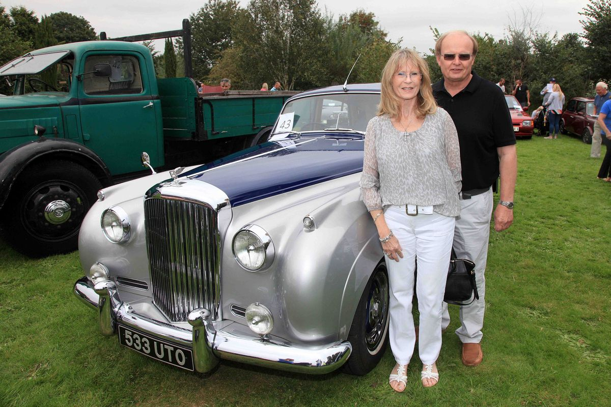 Glyn and Madeleine Upton with their 1957 Bentley S1