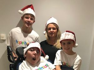 The Williams family, from left are, Jack, Lisa and Lewis, and front is Callum.