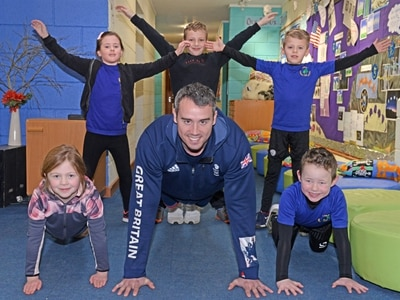 Olympic medallist Kristian Thomas inspires next generation of athletes at Telford school