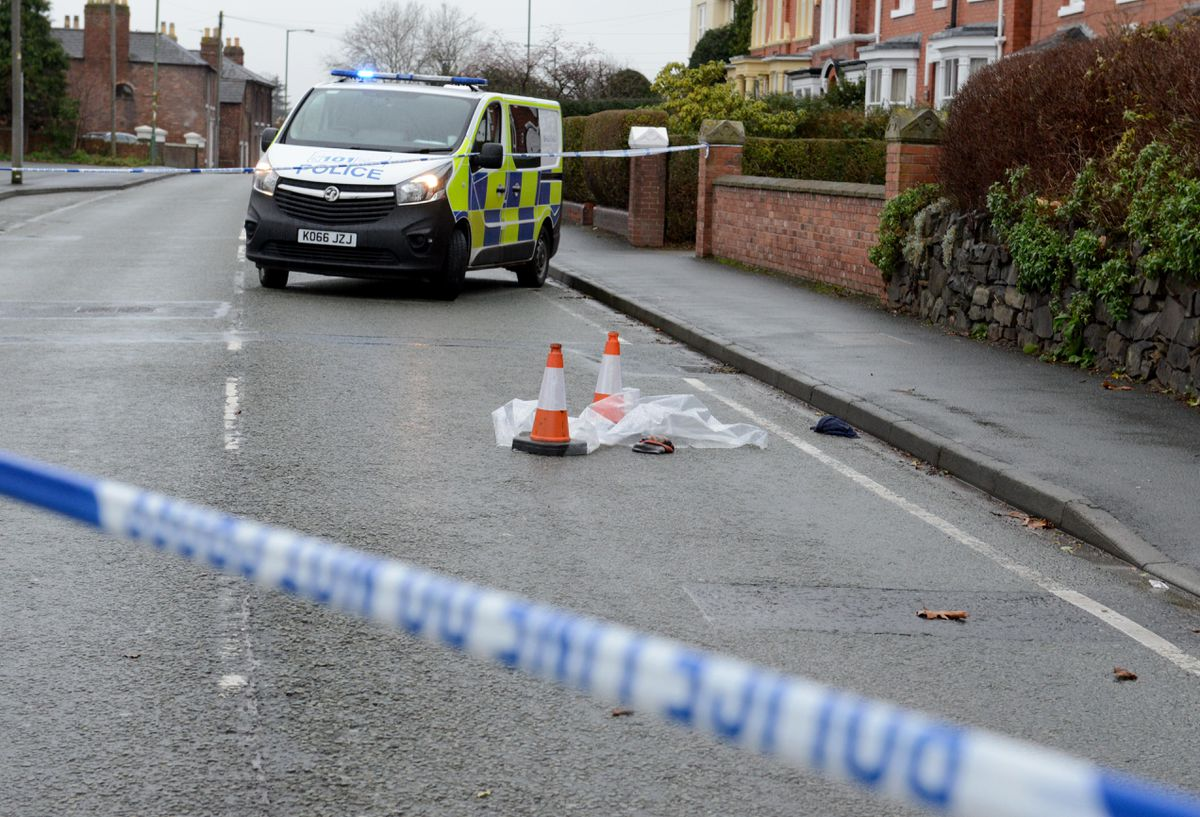 A stretch of Hereford Road was closed throughout the night