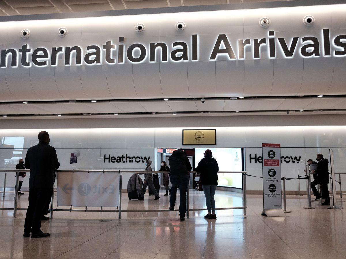 View inside Heathrow Airport