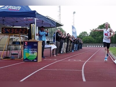 WATCH: World record smashed by RAF Cosford relay athletes