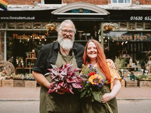 Flores Diem in Market Drayton are now part of the Good Florist Guide, and out of 200 florists, they are one of just two from Shropshire. In Picture L>R: Phil Payne and Viv Payne-Derricutt