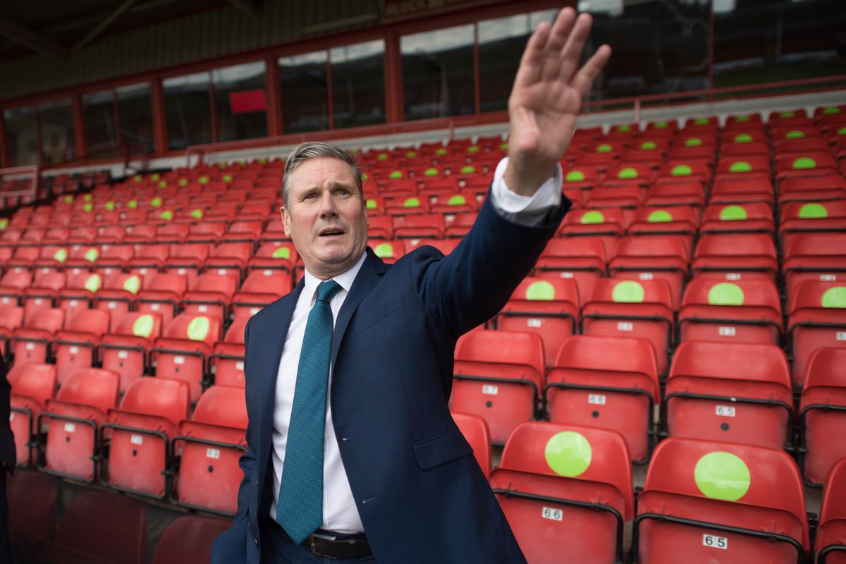 Labour leader Sir Keir Starmer during a visit to Walsall FC's Banks's Stadium. Photo: Stefan Rousseau/PA Wire.