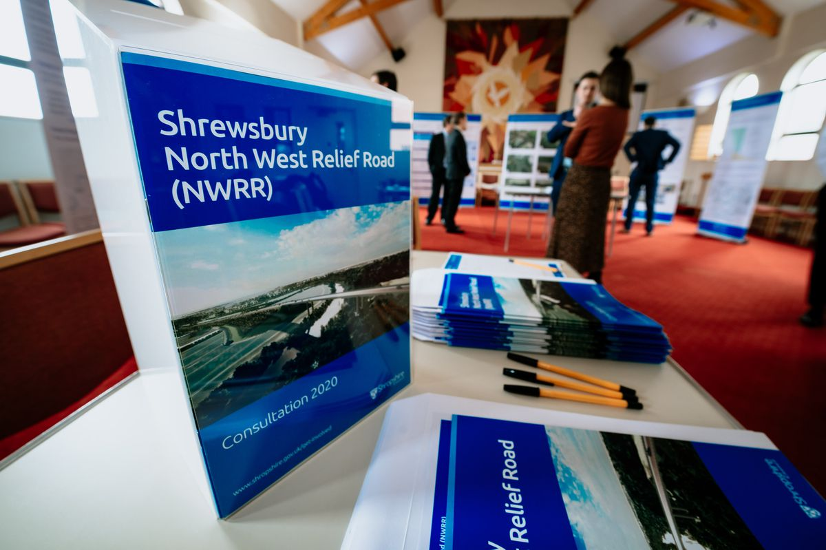 A public consultation for North West Relief Road in Shrewsbury