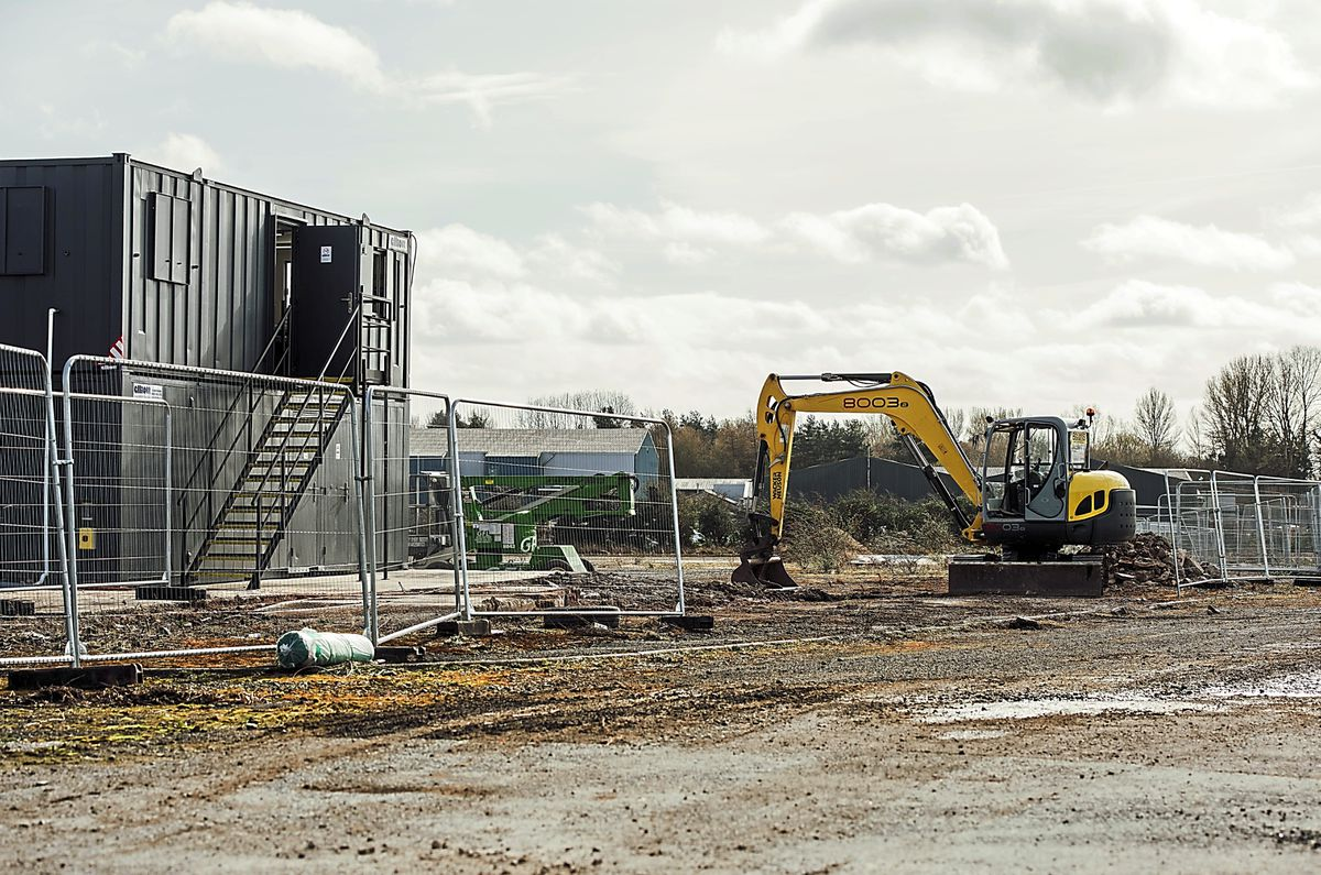 Changes – diggers have started work on the site in Oswestry that will become the town's second Morrisons store