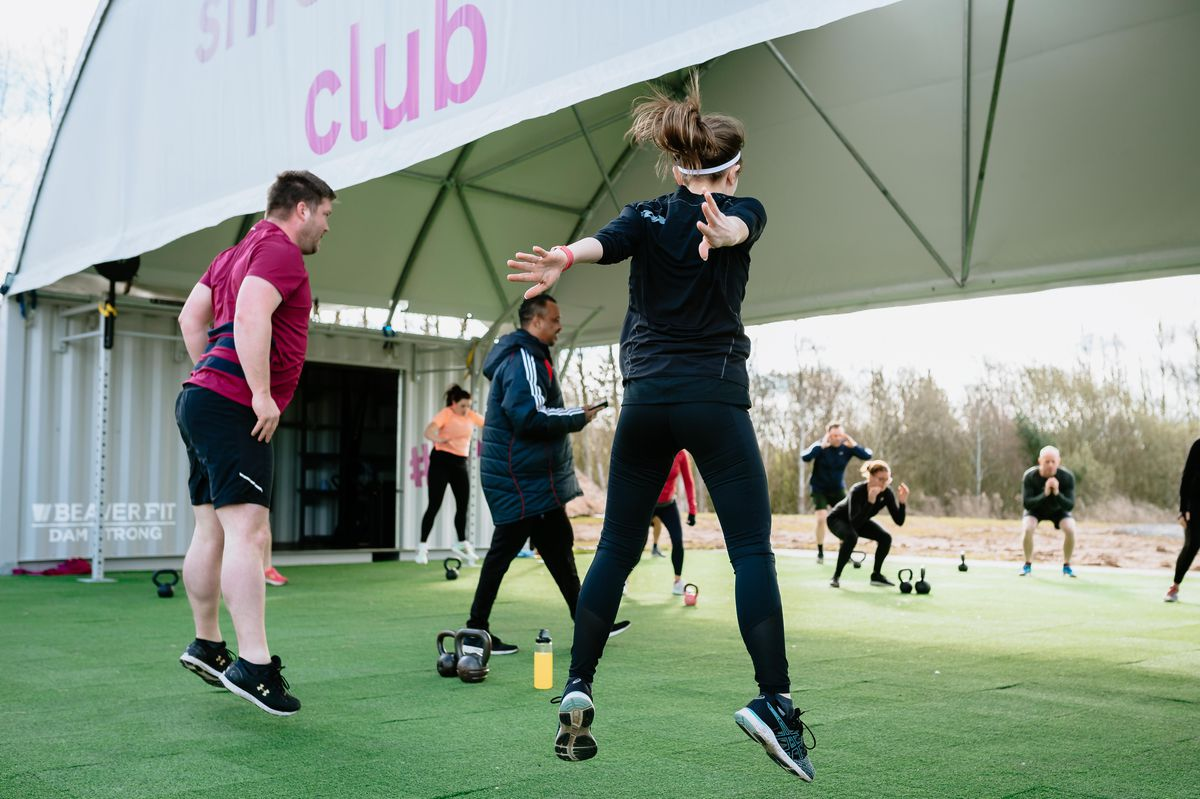 Outdoor bootcamps take place at The Shrewsbury Club