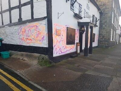 Vandals strike at historic pub as town hit by crimewave