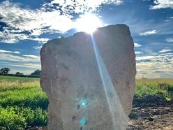 Shropshire standing stone memorial built for Covid-19 victims and their families