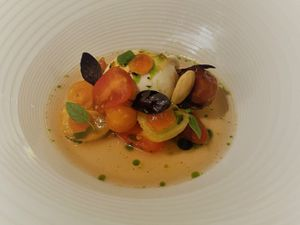 The Isle of Wight tomatoes starter at Mortimers