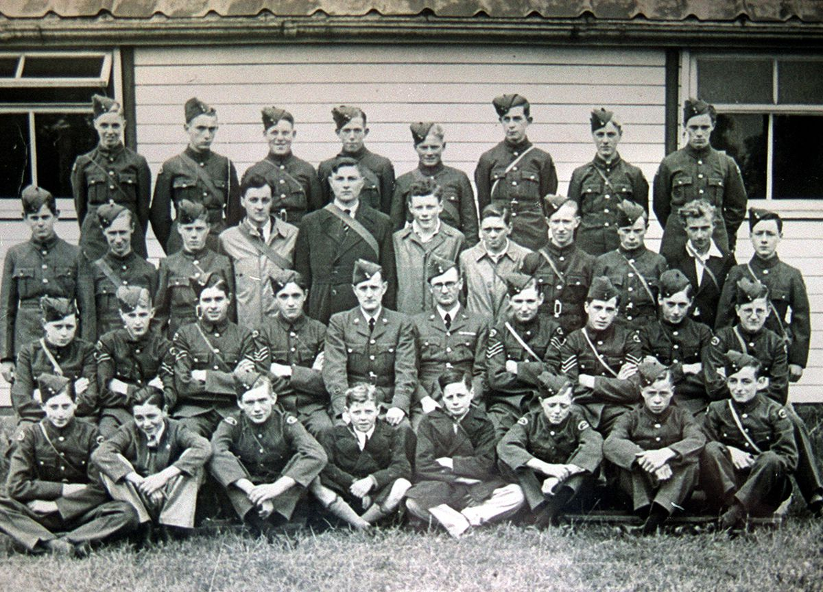The Air Training Corps celebrates its 80th anniversary this month so today we're going back to the beginnings of the movement with this photo of the 1193 North Shropshire Squadron of the ATC, based at Ellesmere, around 1941 or 1942. The photo came originally from Walter Vickers, of Ellesmere, who is third row down, extreme left. Second row down, extreme right, is his friend Ken McKenzie. The photo was taken when the cadets were going to RAF Shawbury and looking forward to flying.