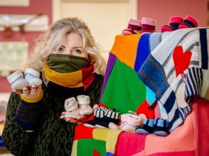 Annette Eardley-Smart, creative director at Turtle Doves Cashmere, in Shrewsbury, where sales of baby wear have been rising