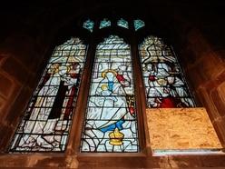 Burglar causes £10,000 damage to Shrewsbury church window - to steal just £40