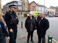 Police chief visits Newtown after violence
