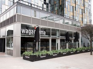 A closed Wagamama in Greenwich