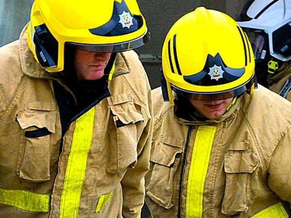 Shropshire firefighters help rescue woman through boot of car after crash