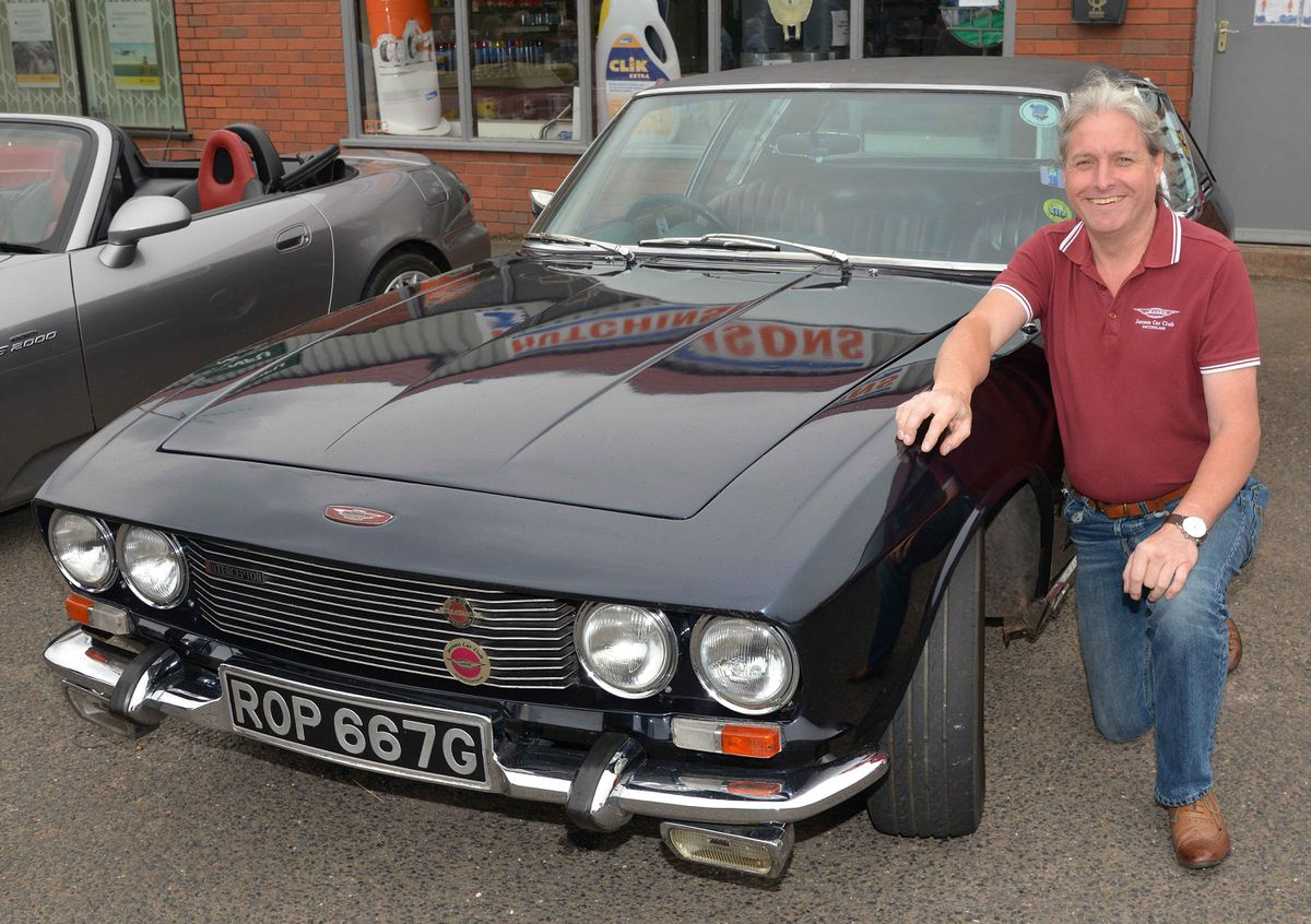 Kevin Birch next to his superb 1968 Jenson Interceptor Mk 1