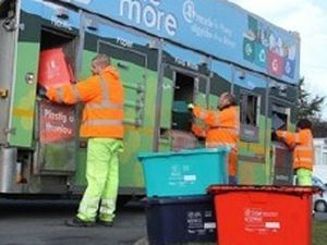 The issue of recycling targets in Powys has been discussed by councillors