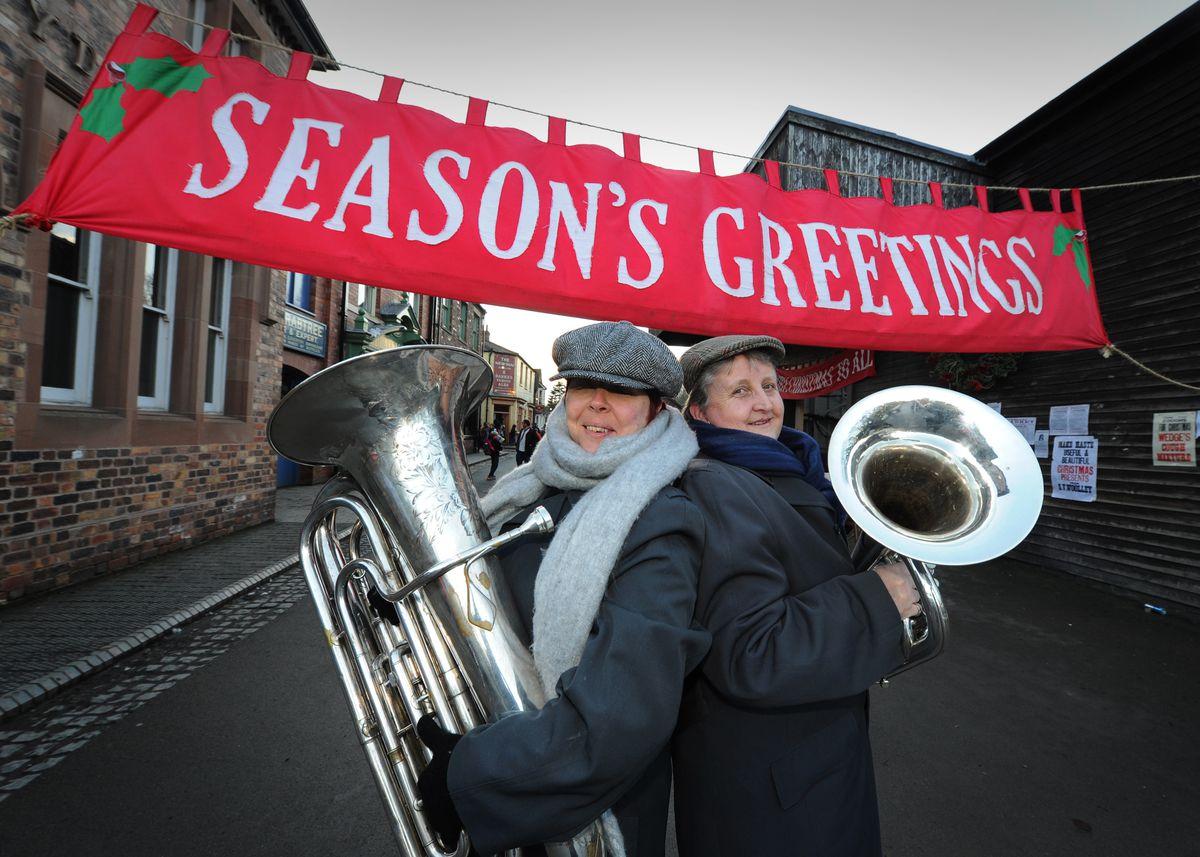 Kate Worthing and Liz Anson-Smith of Wellington Brass Band