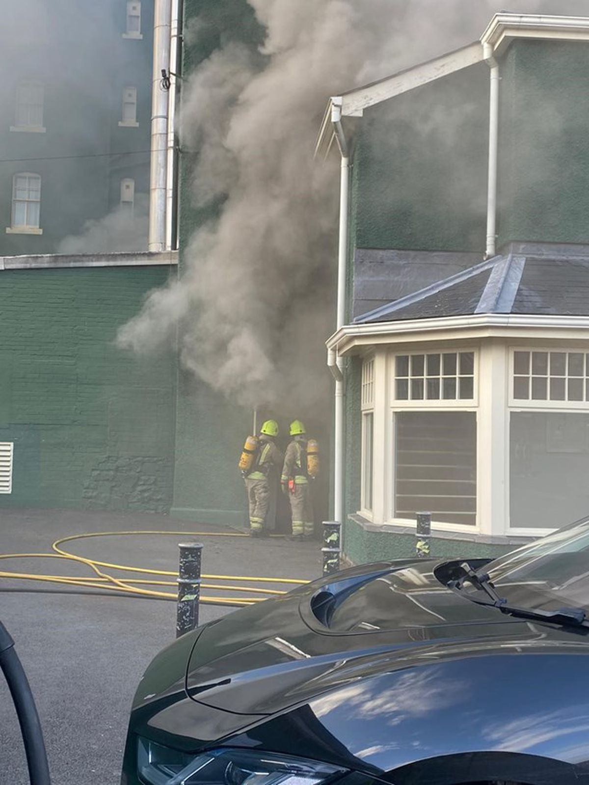 The fire service at The Metropole Hotel.
