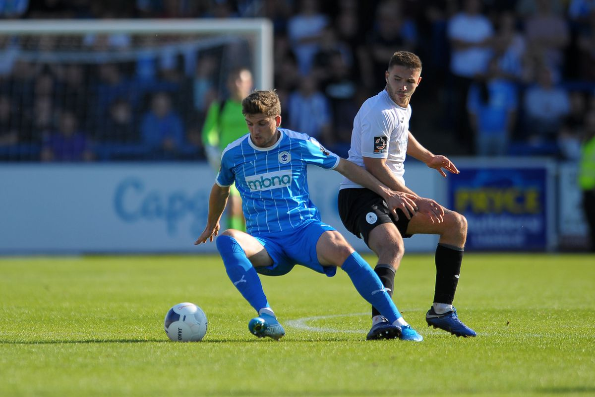 AFC Telford United and Chester FC  action
