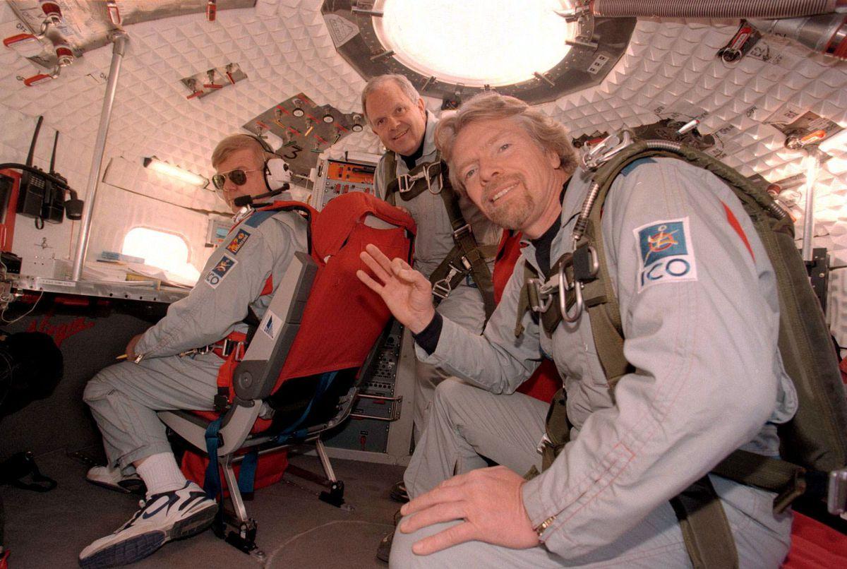 Per Lindstrand, Steve Fossett and Virgin Boss Richard Branson, on one of their ballooning adventures