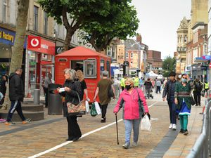 Wolverhampton city centre, where new rules are coming into force