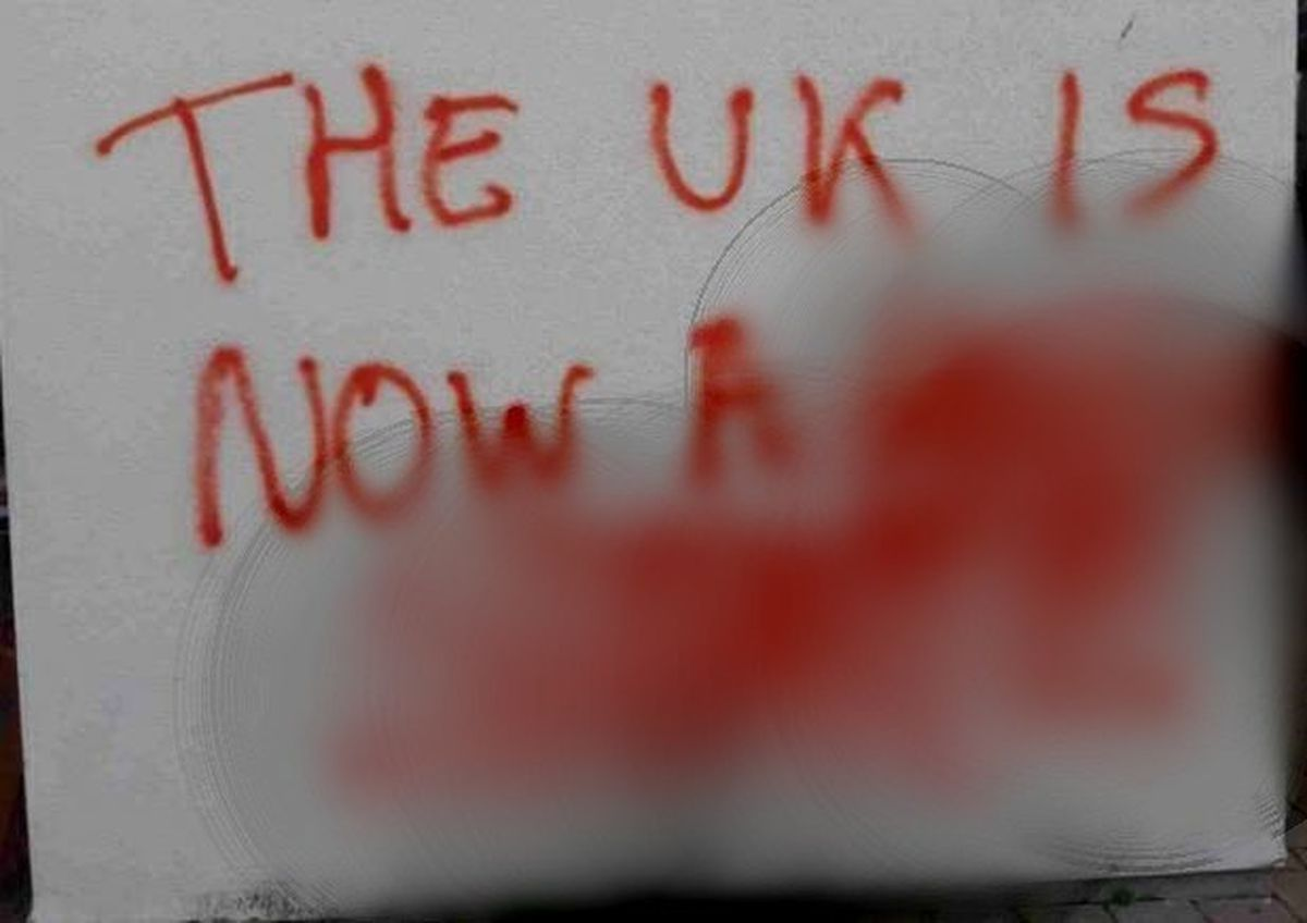 The graffiti has appeared across parts of Madeley. Photo: Telford & Wrekin Council