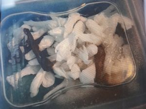 Drugs and cash were seized in the raid. Picture: LPPT North