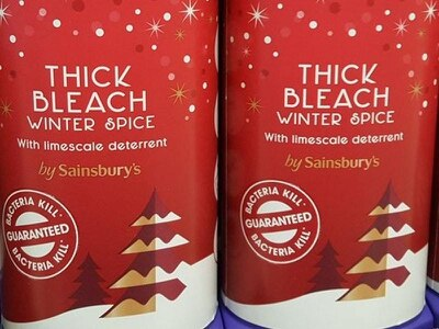 'Tis the season! Christmas bleach is now in the shops