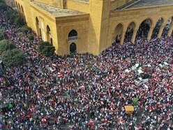 Lebanese stage massive protest against leaders in rare sign of unity