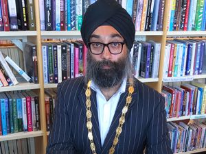 Mayor of Broseley, councillor Tarlochen Singh-Mohr