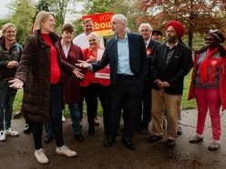 Jeremy Corbyn in Shropshire as Labour celebrates Telford council election victory